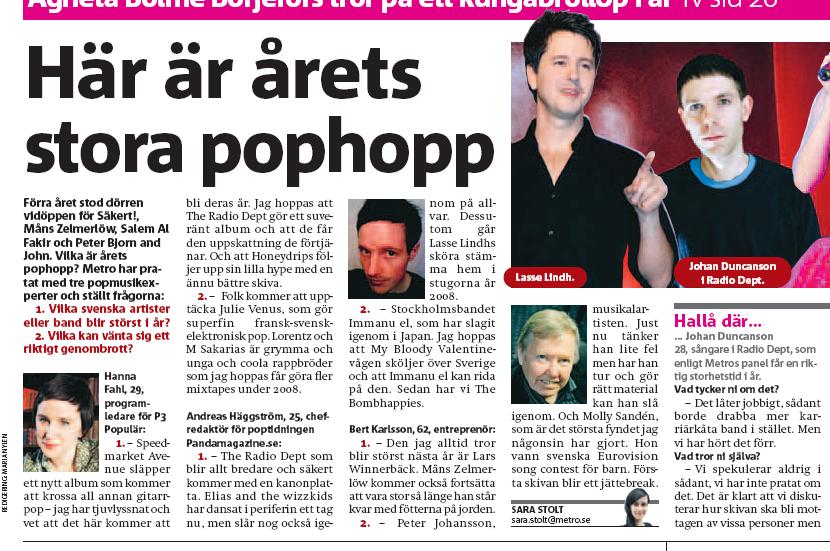 Metro Pophopp 2008